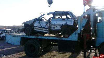 7 کشته در تصادف مرگبار تویوتا با پراید (عکس)