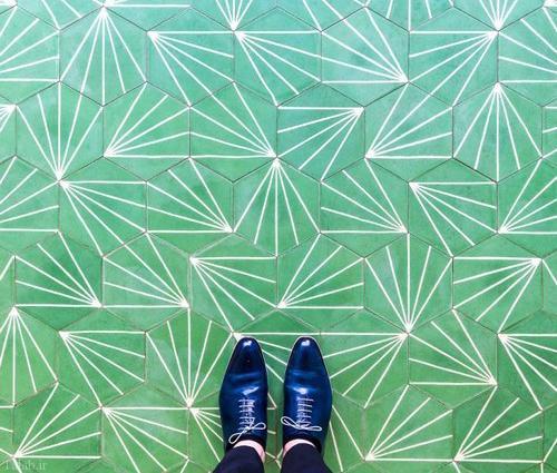 تصاویر کفپوش های هنری در شهر لندن