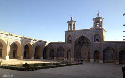 دزدیده شدن کاشی های مسجد صورتی شیراز (+عکس)