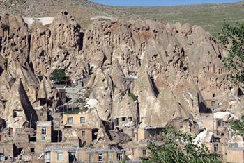 تصاویری روستای صخره ای استثنایی در ایران