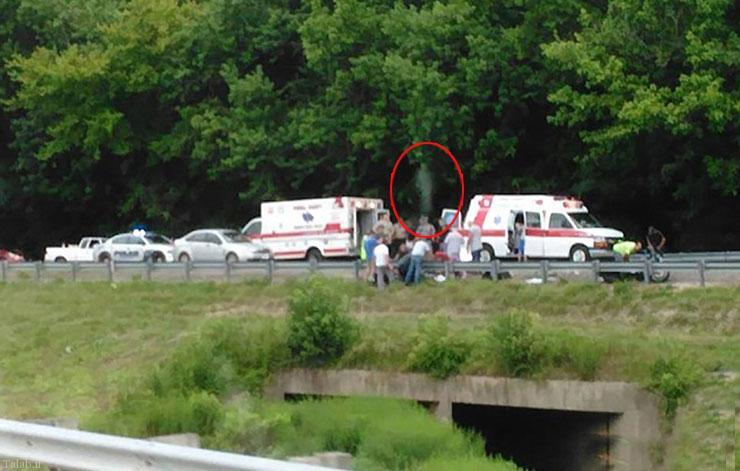 تصویر عجیب جدا شدن روح از بدن در یک حادثه تصادف