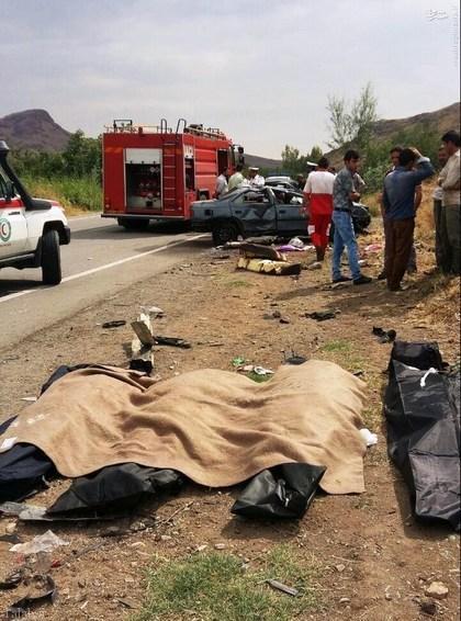 مرگ دسته جمعی یک خانواده در کنار جاده !+ تصاویر