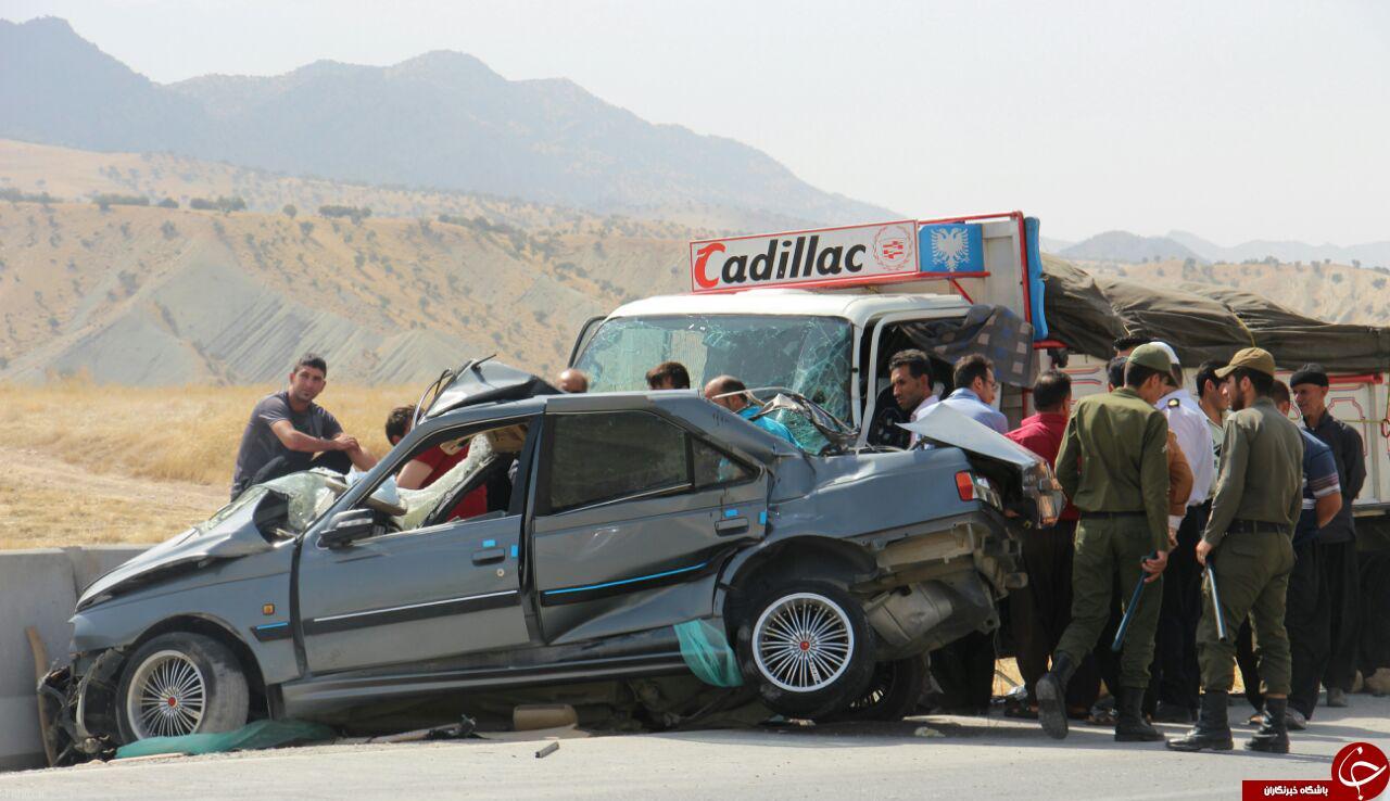 مرگ 5 سرنشین پرشیا در تصادف با کامیون + تصاویر