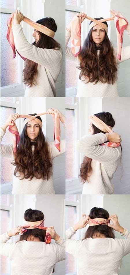 تصاویری از روش های مختلف بستن دستمال سر