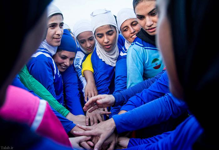 تصاویر جالب تمرین تیم منحل شده بانوان ملوان