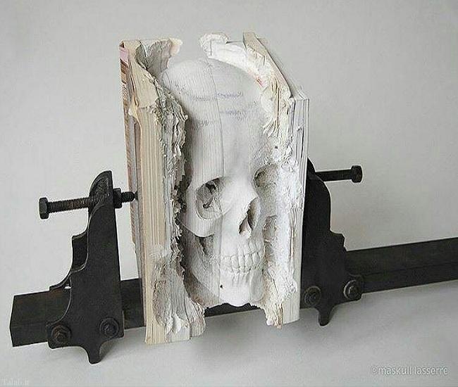 عکس هایی از تندیس های زیبا و خلاقانه از کتاب