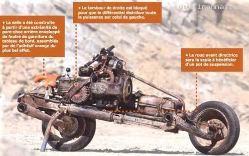 تبدیل جالب خودروی ژیان به موتور سیکلت !+ عکس