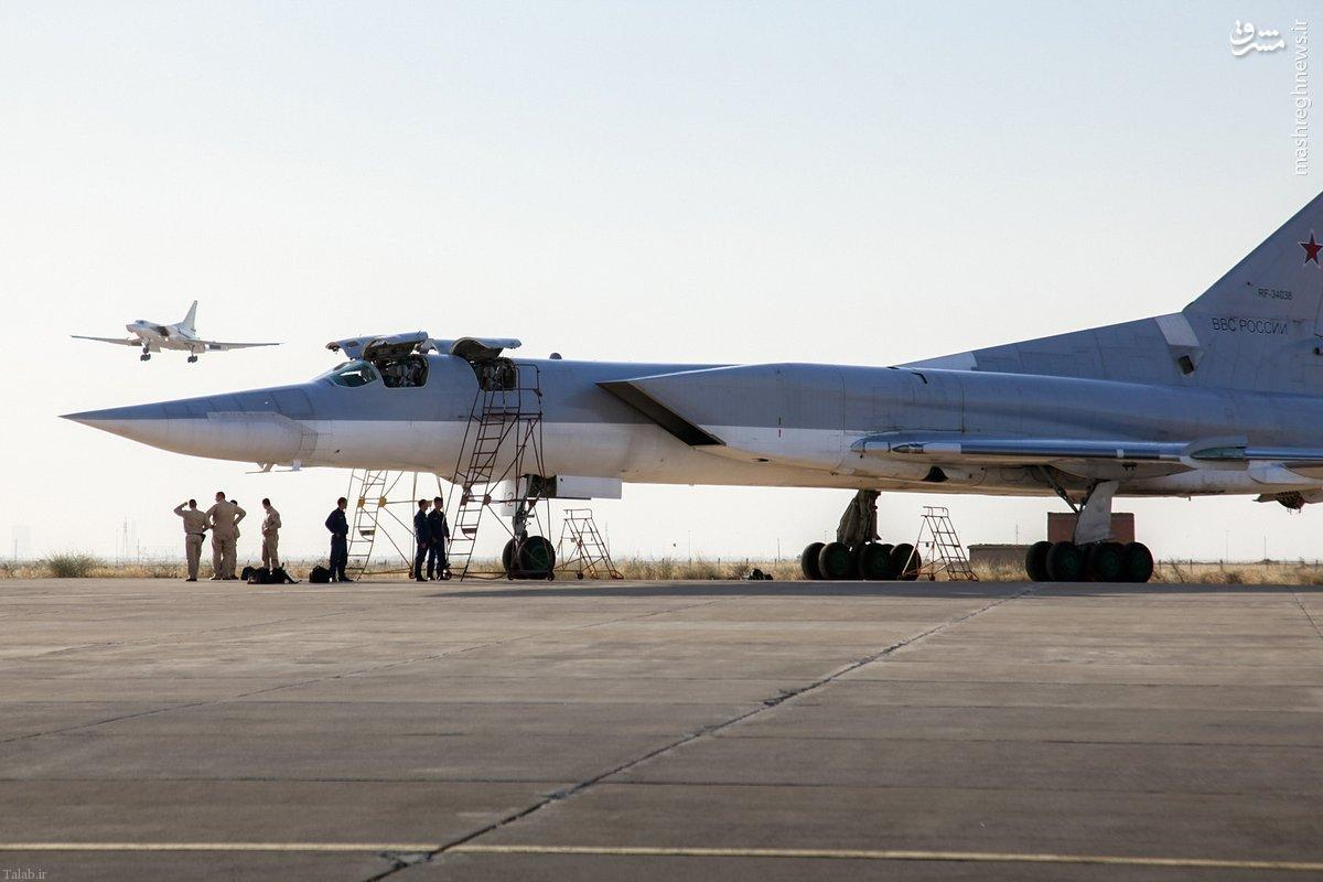 تصاویری از هواپیماهای جنگی روسیه در همدان