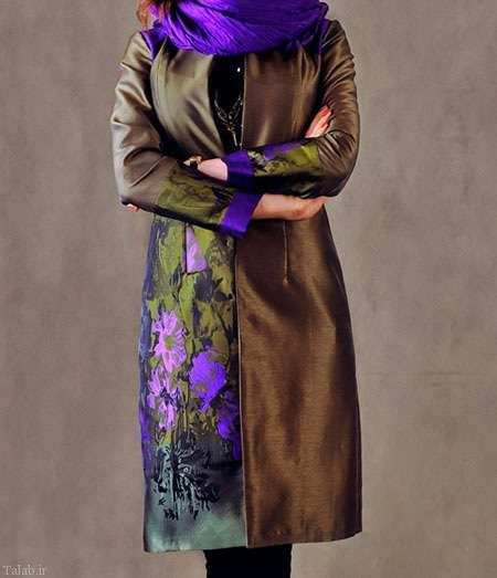 زیباترین مدل های مانتو ساتن جوان پسند
