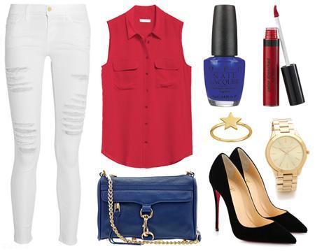 مدل ست کردن لباس تابستانی با شلوار جین سفید