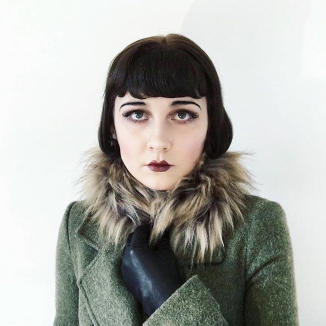 تصاویر هنر جالب دختر 17 ساله در گریم چهره
