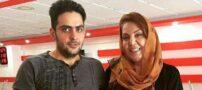 بازیگر زن ایرانی در کنار پسر خواننده اش (+عکس)