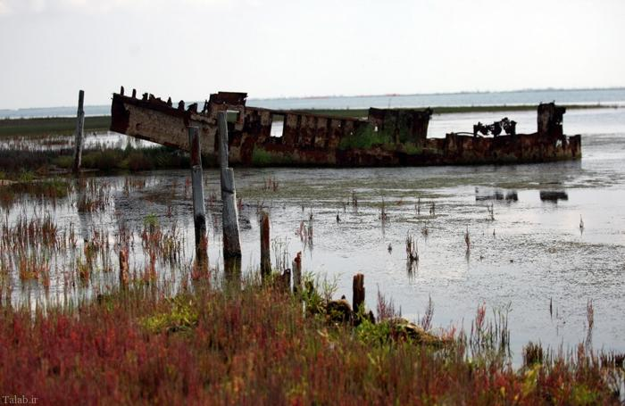 وضعیت نامناسب تنها جزیره ایرانی دریای خزر !+ تصاویر