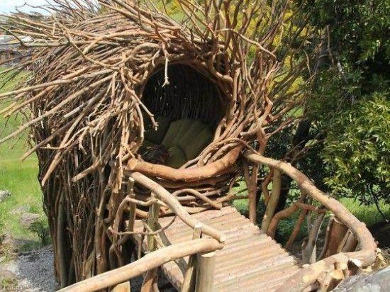 طراحی خانه ای درختی به سبک لانه های پرندگان (+ عکس)