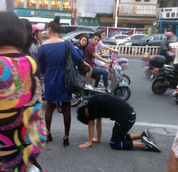 زن جوان قلاده به گردن شوهرش انداخت !+ عکس