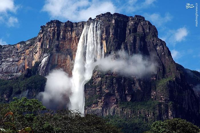 عکس های دیدنی از بلندترین آبشار جهان