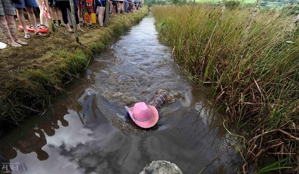 عکس های دیدنی از مسابقه غواصی در باتلاق