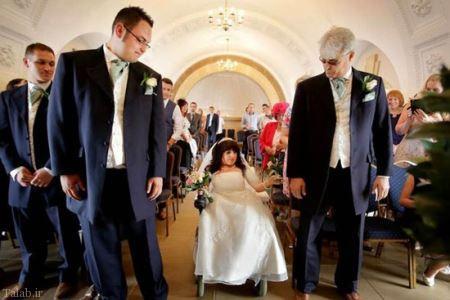 ازدواج جالب پسر قد بلند با دختر کوتاه قد (+عکس)