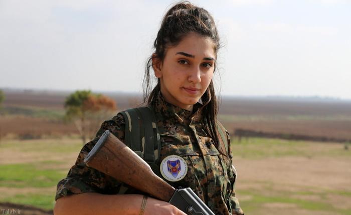 زنان زیبای کرد در جنگ با داعش (+ تصاویر)