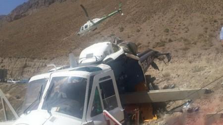 بالگرد اورژانس 115در جاده هراز سقوط کرد (+عکس)