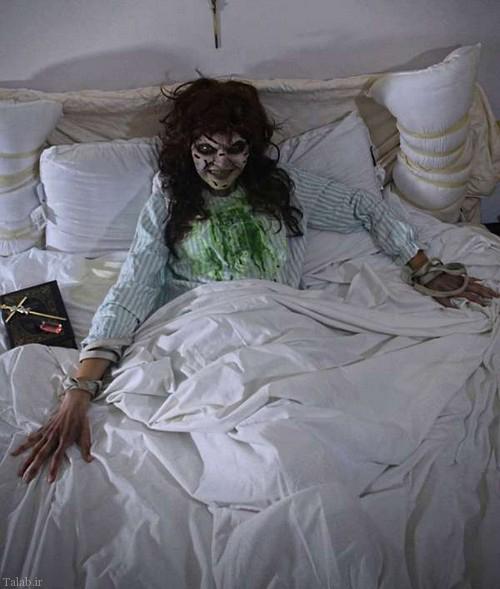 گریم هایی ترسناک چهره افراد در هالووین (+عکس)