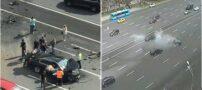 تصادف خودرو پوتین بدون حضور پوتین (+عکس)
