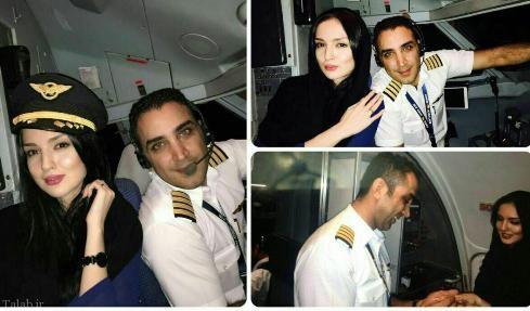 خواستگاری جالب خلبان ایرانی در آسمان (+عکس)