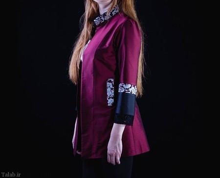 مدل مانتو ساتن زیبا 2017