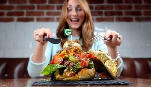 رکورد گرانترین ساندویچ همبرگر جهان با روکش طلا (+عکس)