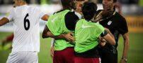 عکسی از درگیری در بازی ایران و قطر
