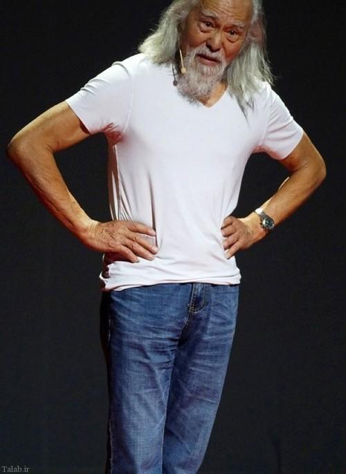عکس هایی از پیرمرد 80 ساله خوش تیپ