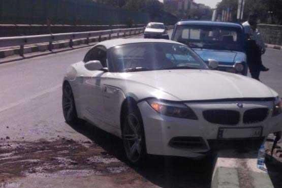 تصادف خودروی چند صد میلیونی در ایران (+ عکس)