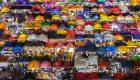 چادر های رنگارنگ یک بازار شبانه در تایلند (عکس)