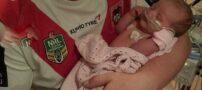 نوزادی عجیب که فقط 2 قاشق غذا خوری خون دارد