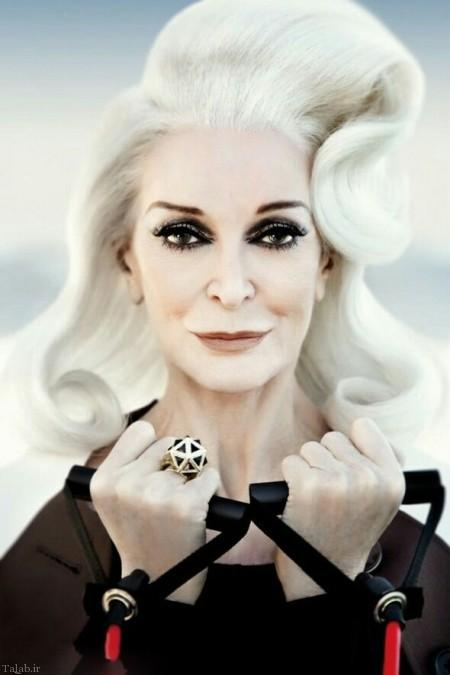 مدلینگ زن 85 ساله که هنوز مدل است (+عکس)