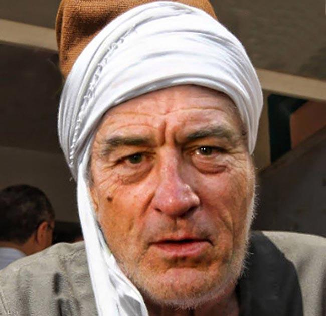 چهره بازیگران هالییوود در لباس محلی (+عکس)