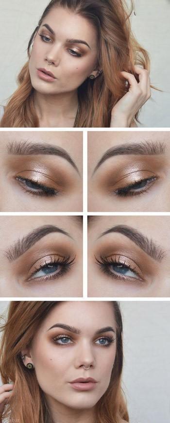 آموزش برنزه کردن صورت با آرایش بصورت تصویری