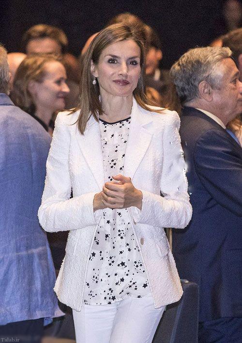 ملکه اسپانیا با لباس زیبا و ساده (+عکس)