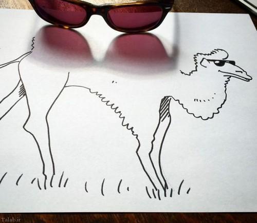 هنر نمایی ادغام سایه و نقاشی (+عکس)
