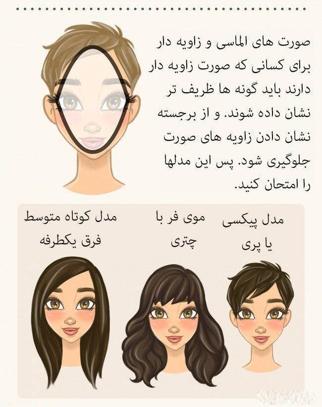 آموزش مدل مو زدن طبق حالت صورت (+عکس)