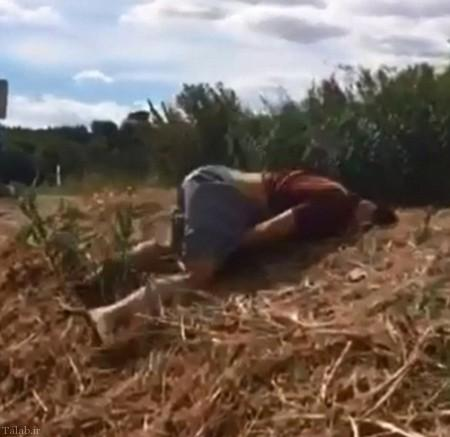 سوژ شدن مرد 123 کیلویی برای ورزش کردن (+عکس)