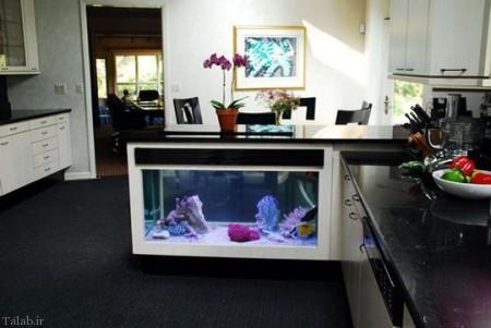 دکواسیون جالب با آکواریوم در تزئینات منزل (+عکس)