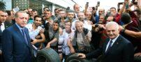 حضور بی مقدمه اردوغان در یک لاستیک فروشی (+عکس)
