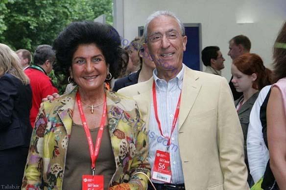 تصویری از پروفسور مجید سمیعی و همسرش