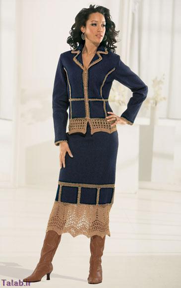 مدل های کت دامن جدید زنانه