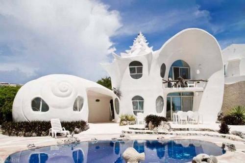 خانه ای با معماری صدفی شکل (+عکس)