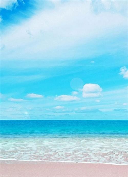 ساحلی زیبا به رنگ صورتی (+عکس)