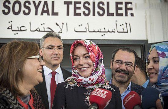 حضور بازیگر هالیوود با حجاب کامل در ترکیه