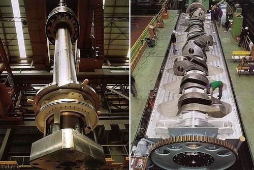 کشتی با بزرگترین موتور دیزلی دنیا (+عکس)