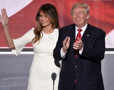 تصاویر جنجالی از برهنگی همسر ترامپ رئیس جمهور آمریکا